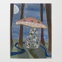 Mushroom Cottage Number 8 Poster