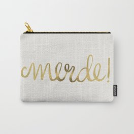 Pardon My French – Gold Ink Carry-All Pouch