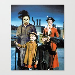 Michael Myers in Mary Poppins Canvas Print
