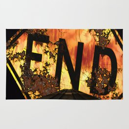 Halloween, Dead End Sign, Back Drop Rug