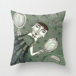 Schneewittchen-The New Queen Throw Pillow