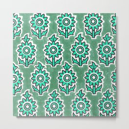 Indian Lucite Green Metal Print