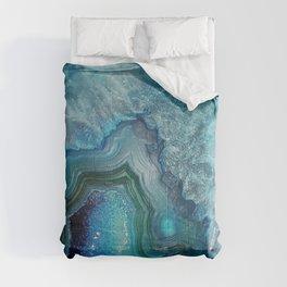 Aqua Turquoise Crystal Mineral Gem Agate Comforters