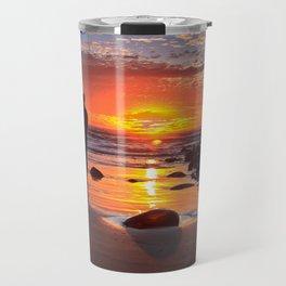 Evening Sunset Surfing Travel Mug