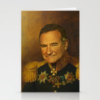 replaceface Stationery Cards featuring Robin Williams - replaceface by replaceface