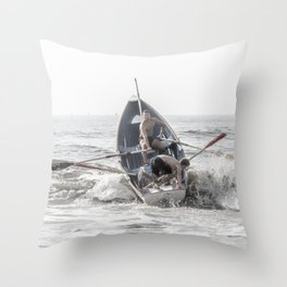 Get In The Boat! Throw Pillow