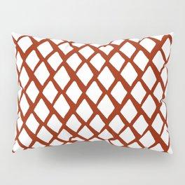 Rhombus White And Red Pillow Sham