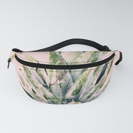 Pineapple, Plant, Green and Pink , Minimal, Trendy decor 02 Fanny Pack