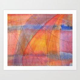Sailing Trajectories Art Print