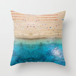 AERIAL. Summer beach Throw Pillow