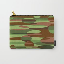 Trendy Green and Brown Camouflage Spheres Carry-All Pouch