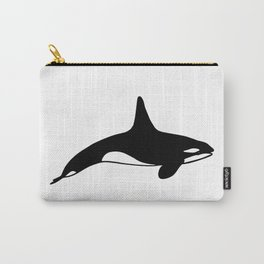 Killer whale in black and white Carry-All Pouch