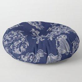 Fungus And Lichen Chart Floor Pillow