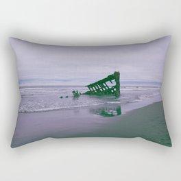 Shipwreck at Fort Stevens state park Oregon Rectangular Pillow