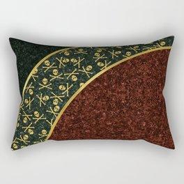 Skull Curve Rectangular Pillow