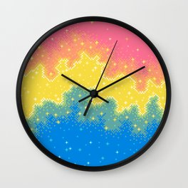 Pan Pride Flag Galaxy Wall Clock