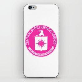 CIA Logo Pink iPhone Skin