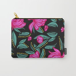 Fuscia Floral Carry-All Pouch