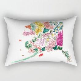 Hand Painted Alaska State Map Rectangular Pillow