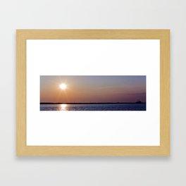 Sunset on the Power Plant Framed Art Print