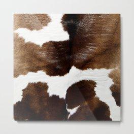 Brown Cowhide Metal Print