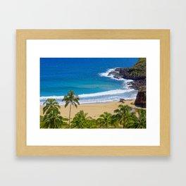 Hawaiian beach Framed Art Print