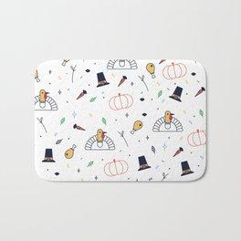 Cute thanksgiving symbols pattern Bath Mat