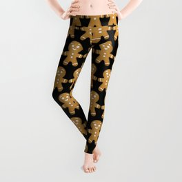 Gingerbread Cookies Pattern Leggings