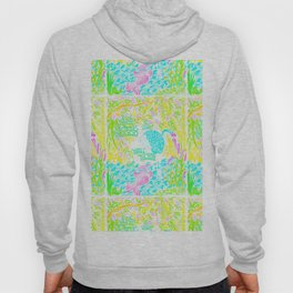 Asian Bamboo Garden in Pink Lemonade Watercolor Hoody