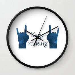 Keep Rocking Wall Clock
