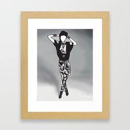 Goo Hara; Pattern Framed Art Print