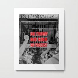 No Trump - Antifa - Anti-Racist Metal Print