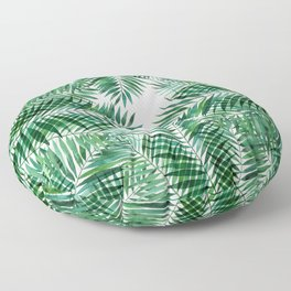 Cool Green Palms Floor Pillow