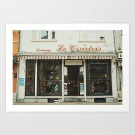 France Brasserie Art Print