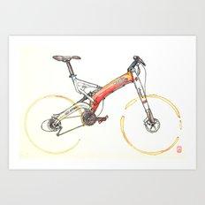 Coffee Wheels #07 Art Print