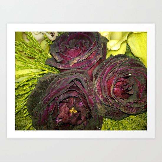 Purple Flowers 1 Art Print