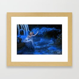 Caribbean Blue Framed Art Print