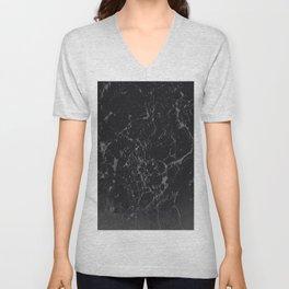 Gray Black Marble #1 #decor #art #society6 Unisex V-Neck