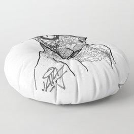 Tattoo cat Floor Pillow