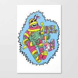 Boner Mummy Canvas Print