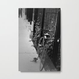 Lonely Bicycle Metal Print