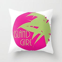 Island Girl Sun Logo Throw Pillow