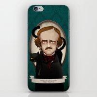 edgar allan poe iPhone & iPod Skins featuring Edgar Allan Poe said... by Mrs Peggotty