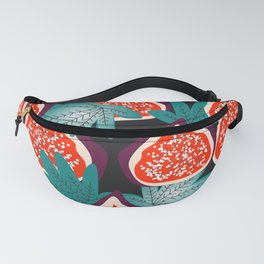 Colorful figs and leaves Fanny Pack