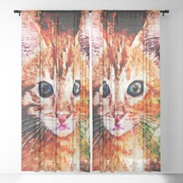 cat years wsstd Sheer Curtain
