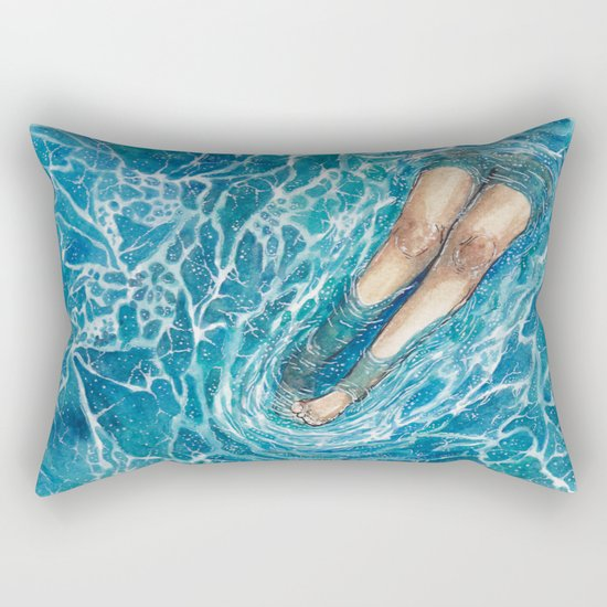 See Me Sea Foam I: When I Grow Up... Rectangular Pillow