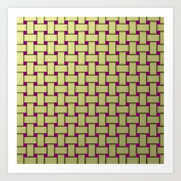 colored stripe pattern with rectangles and Art Print