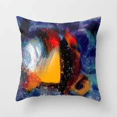 Energy of life is love abstract painting Throw Pillow
