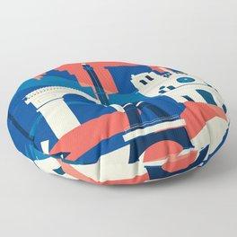 Abstract Paris Floor Pillow