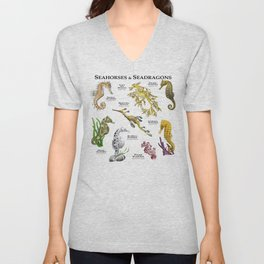 Seahorses and Seadragons Unisex V-Neck